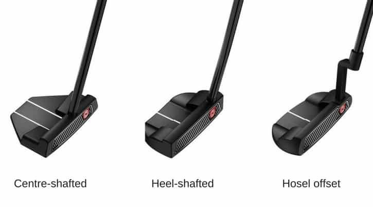 Putter shafts and hosels