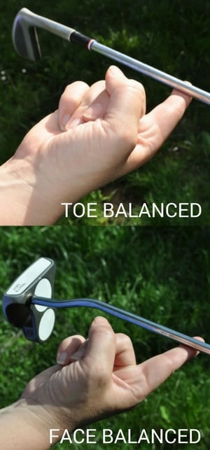 Face balanced vs Toe balanced